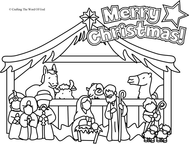 800x609 Nativity Coloring Page Coloring Page Crafting The Word Of God