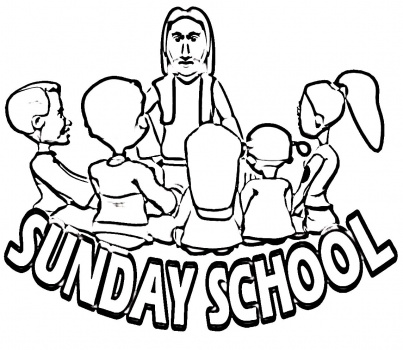 403x350 Sunday School Coloring Pages Sunday School Coloring Pages Jesus