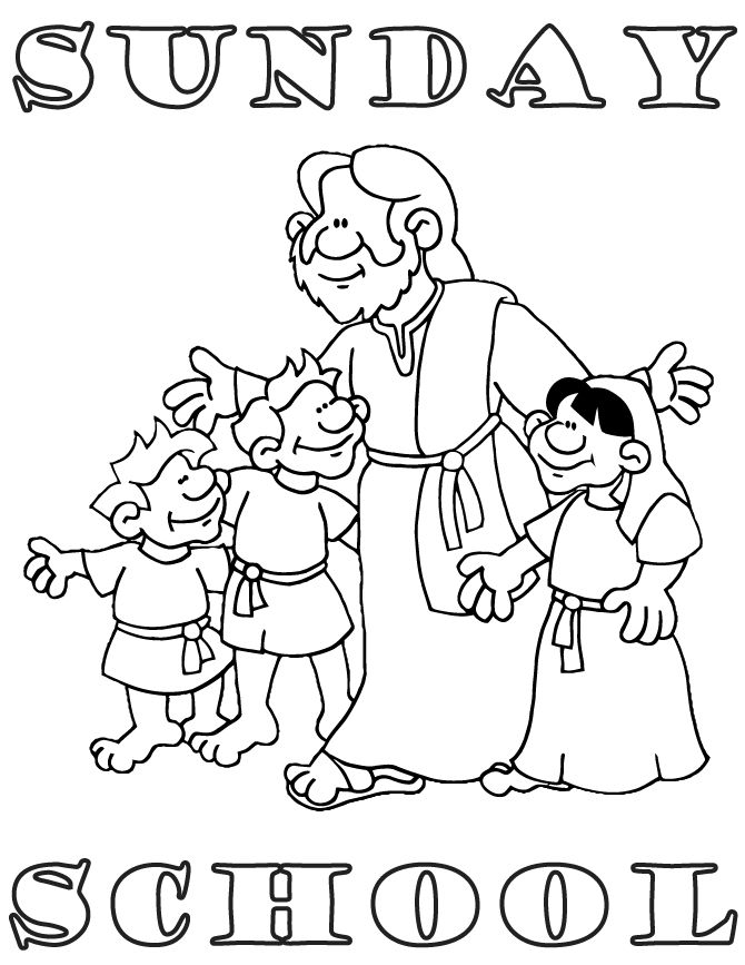 670x867 Sunday Schoo Simple Sunday School Coloring Pages Kids