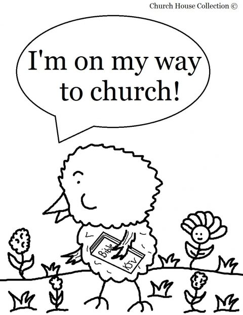 480x621 Sunday School Coloring Pages Easter Chick Page For Kids Photo