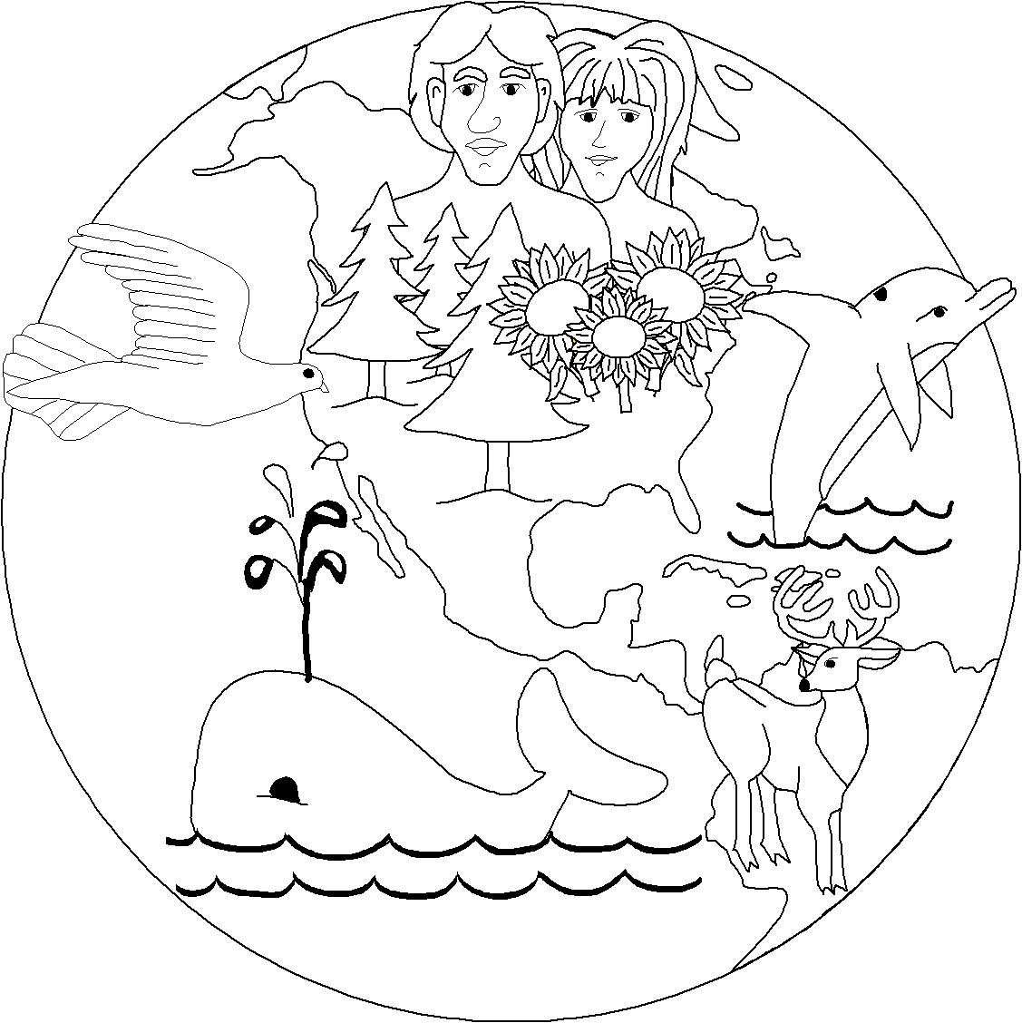 1127x1128 The Creation Coloring Pages For Children