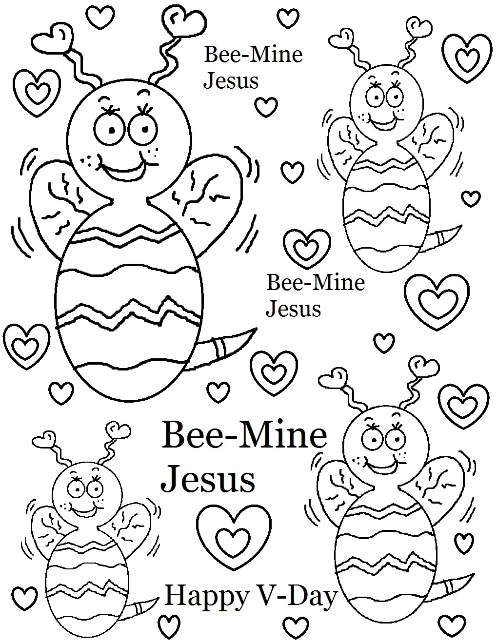 1019x1319 Valentine's Day Coloring Pages For Sunday School
