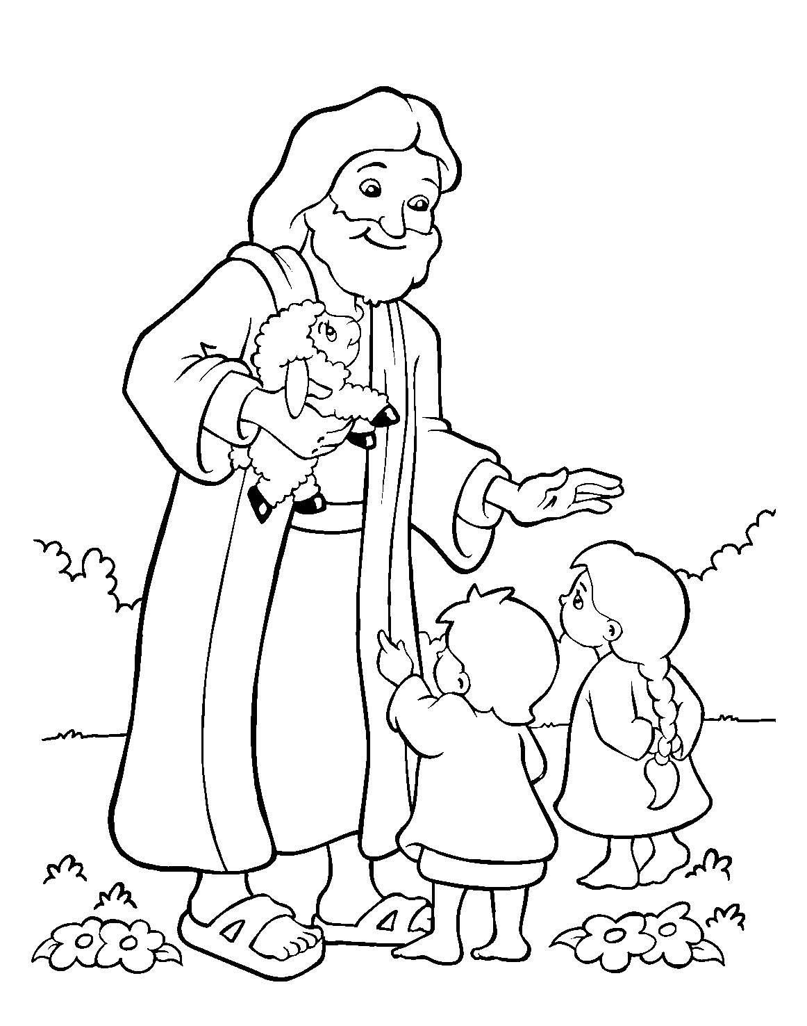 1162x1476 Free Bible Coloring Pages For Children Sunday School Preschoolers