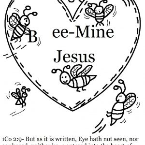 300x300 Valentine Coloring Pages Christian Copy The Privilege Of Serving