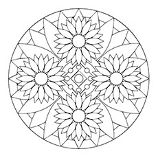 230x230 Beautiful Sunflower Coloring Pages For Your Little Girl