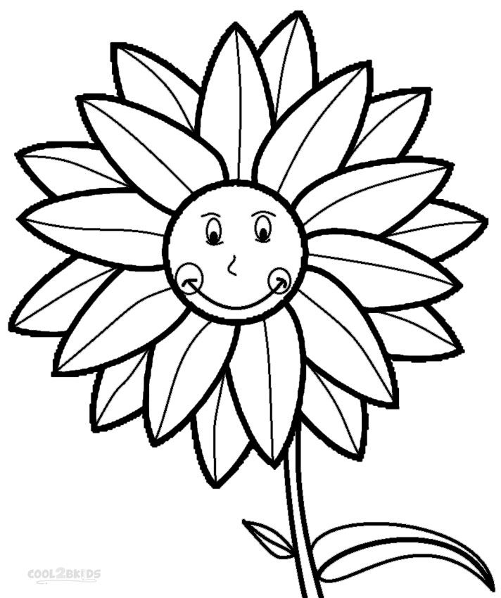 712x850 Printable Sunflower Coloring Pages For Kids