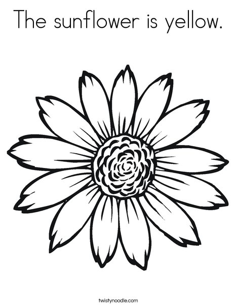 468x605 The Sunflower Is Yellow Coloring Page