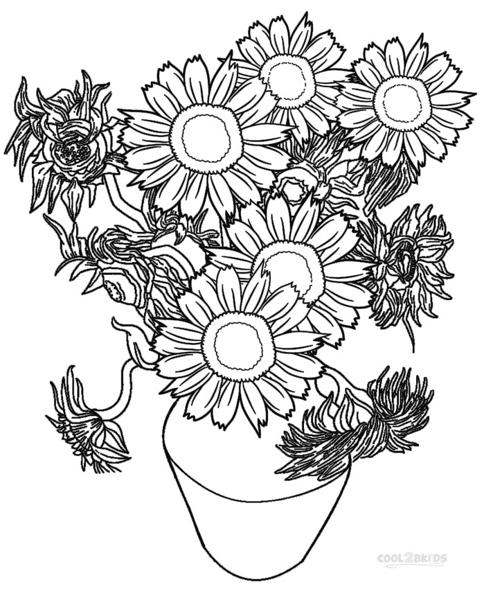 699x850 Coloring Pages Sunflower