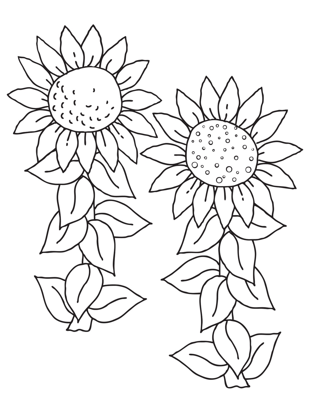1236x1600 Free Printable Sunflower Coloring Pages For Kids