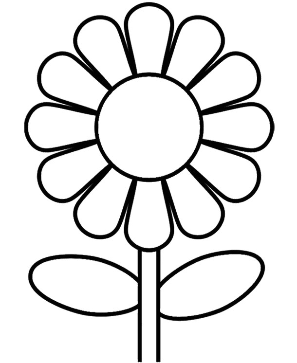 Sunflower Coloring Pages For Kids At Getdrawings Free Download