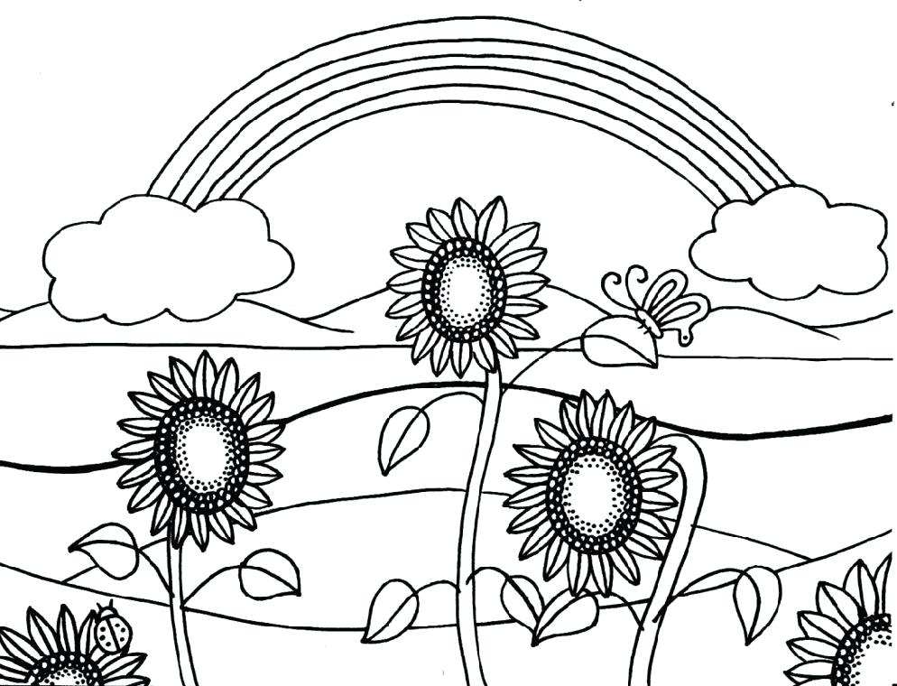 994x760 Sunflower Coloring Pages For Kids Printable Coloring Pages
