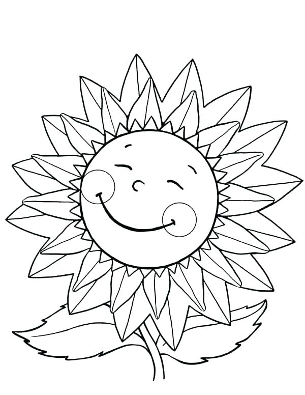 600x776 Sunflowers Coloring Pages Van Sunflowers Coloring Pages Kids