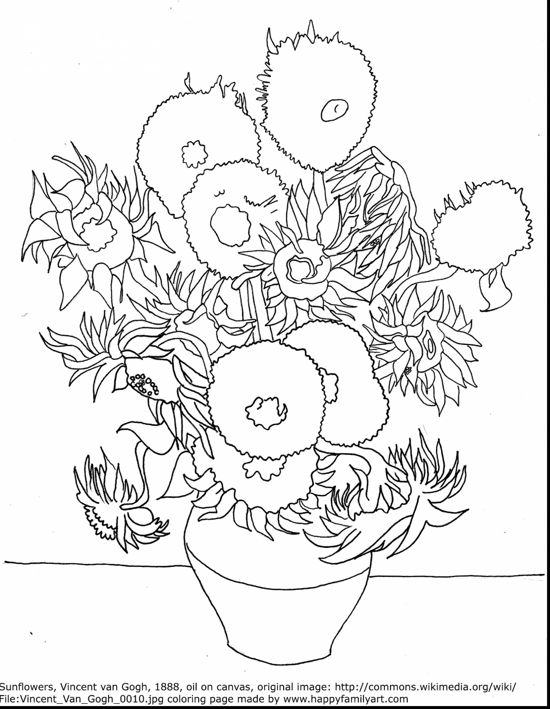 1870x2411 Surprising Vincent Van Gogh Coloring Pages Printable For Humorous