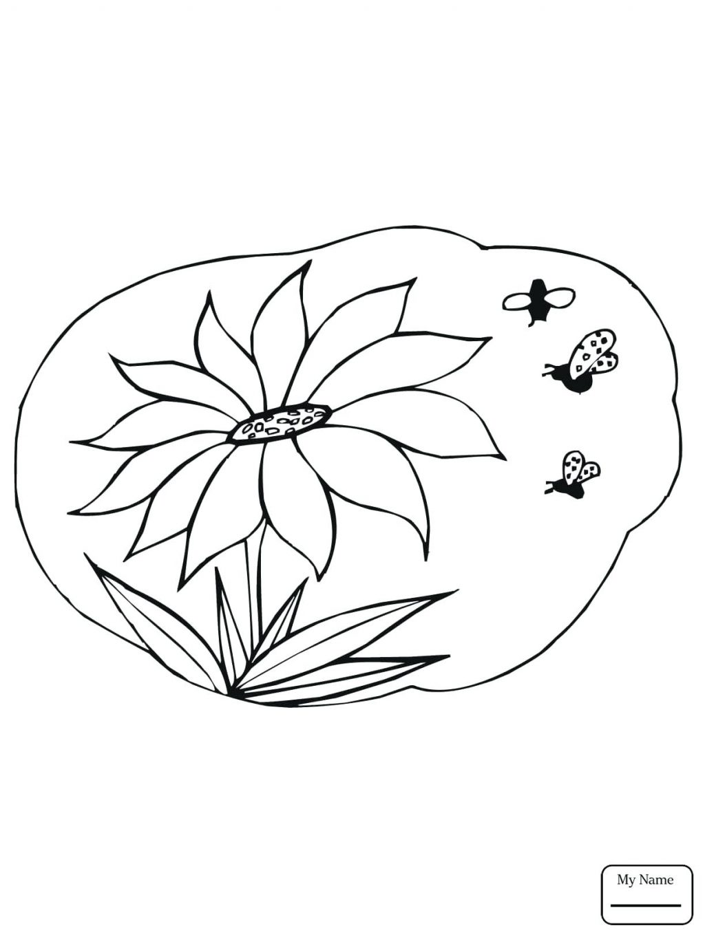 1024x1365 Coloring Pages Sunflower Coloring Page Flowers Bees Gather