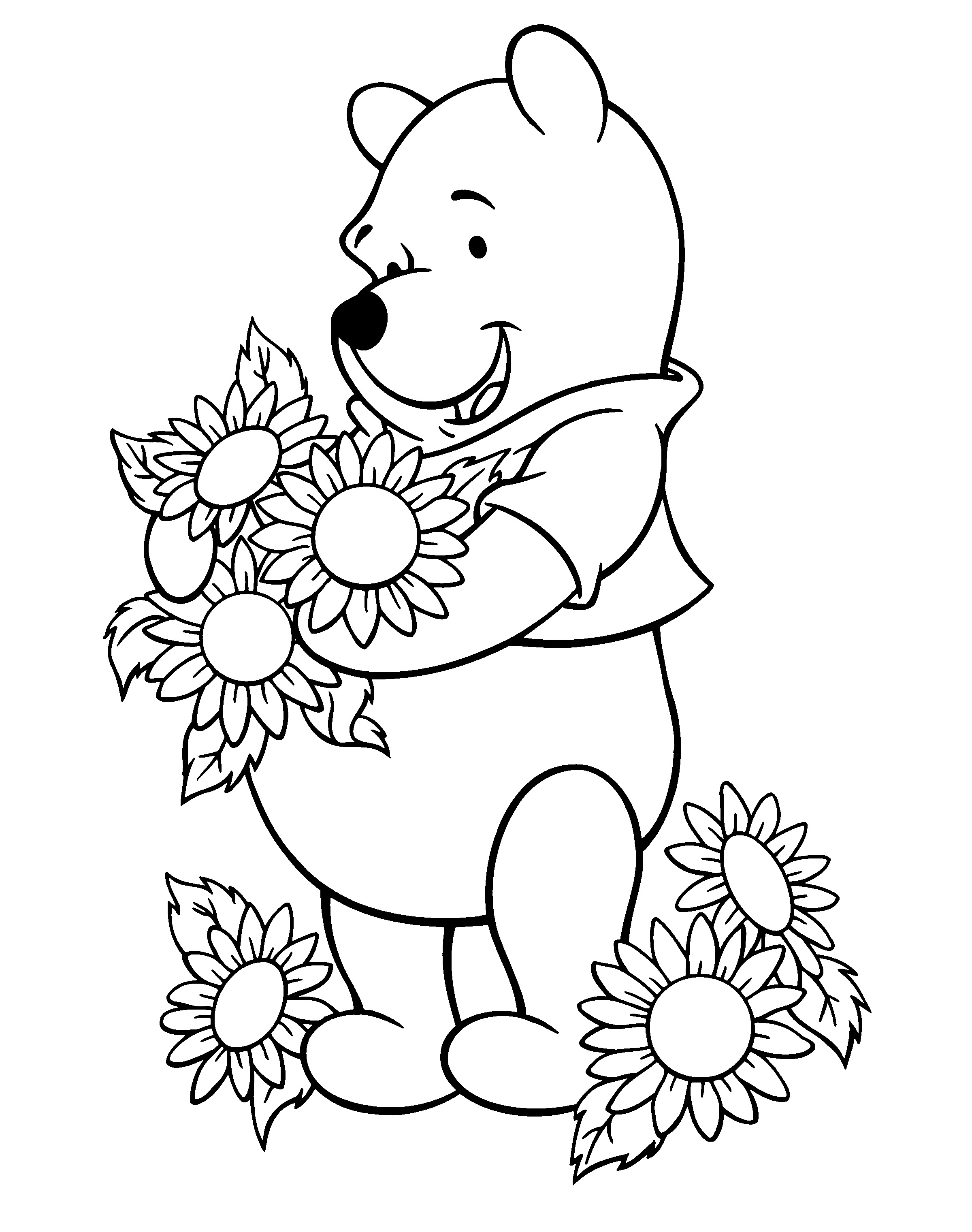 Sunflower Coloring Pages For Kids at GetDrawings.com | Free ...