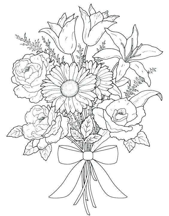 Sunflower Coloring Pages Printable at GetDrawings.com | Free ...