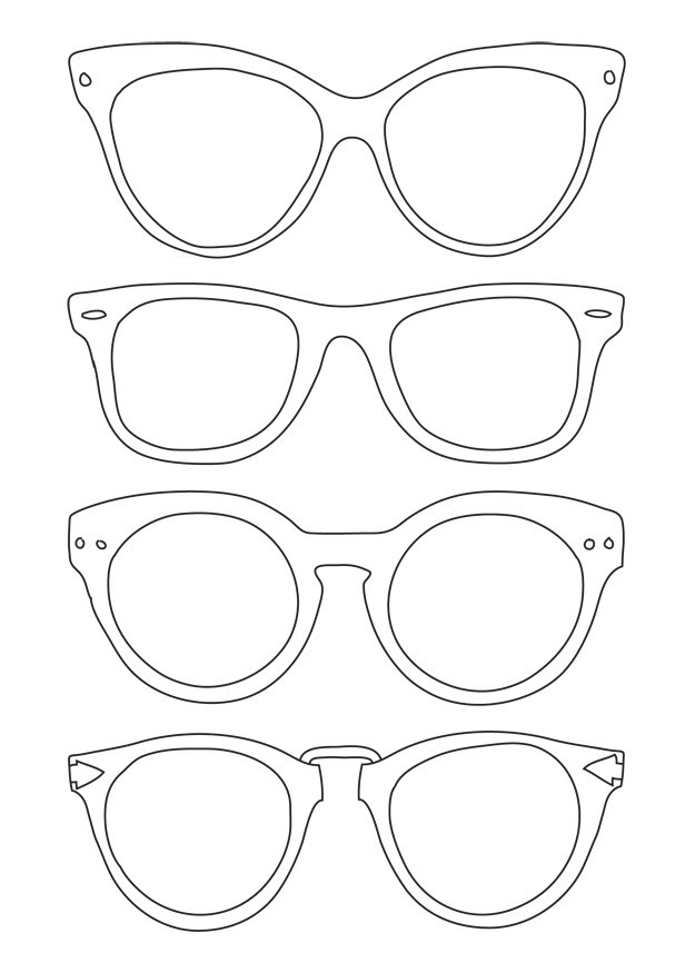 625x875 Luxury Sunglasses Coloring Page Coloring Ws