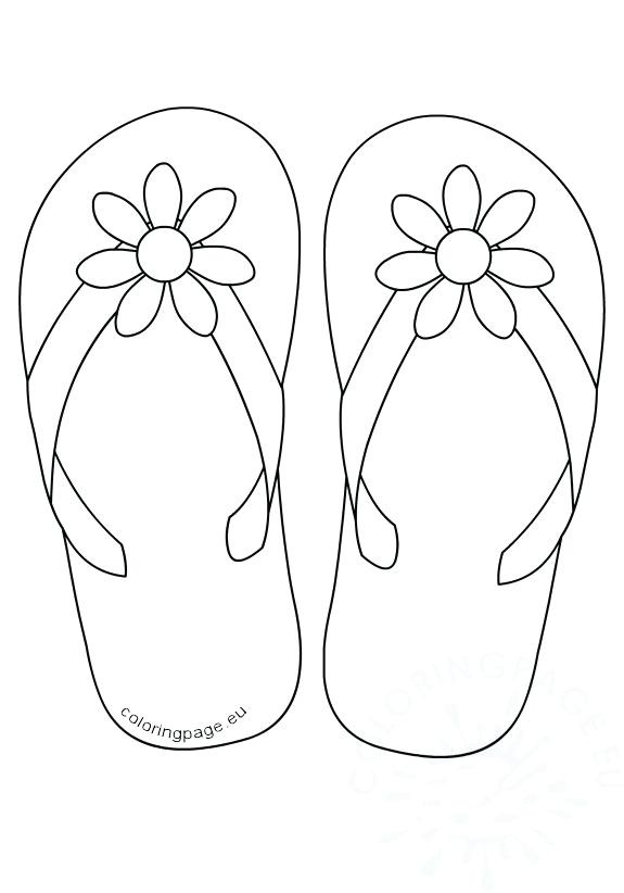 575x822 Outstanding Flip Flop Coloring Pages For Inspiration Article