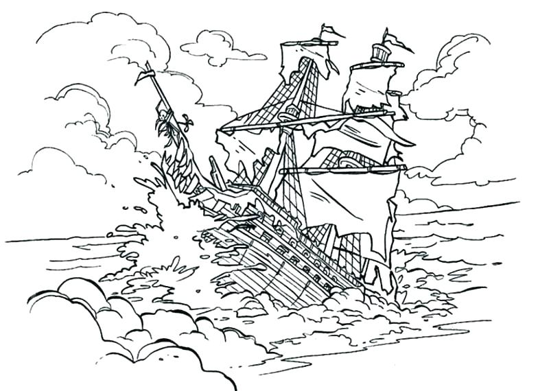 800x570 Pirate Ship Coloring Coloring Pages For Kids My Very Own House