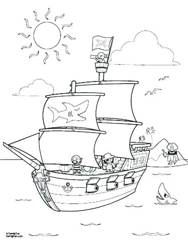 372x482 Pirate Ship Coloring Page Pirate Coloring Book Pirate Ship
