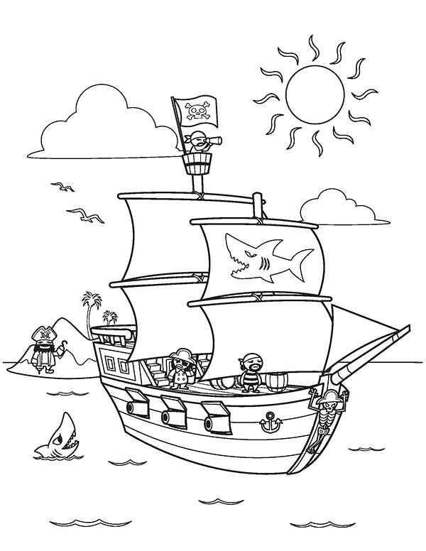 600x776 Pirate Ship Coloring Page Ship Coloring Pages Pirate Ship Coloring