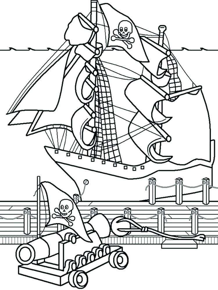 750x1000 Pirate Ship Coloring Pages Pirate Ship Coloring Page Lego Pirate