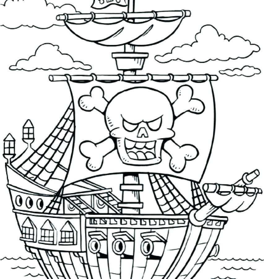 853x900 Pirate Ship Coloring Pages Sunken Pirate Ship Coloring Page