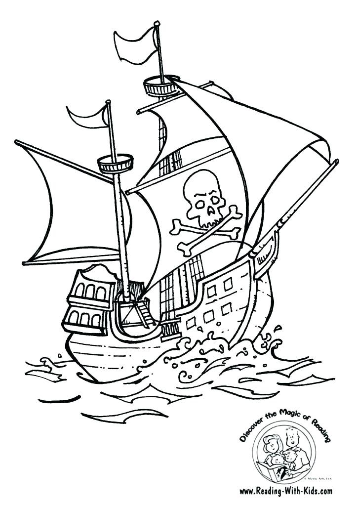 723x1024 Pirate Ship Coloring Pages Sunken Pirate Ship Coloring Page Image