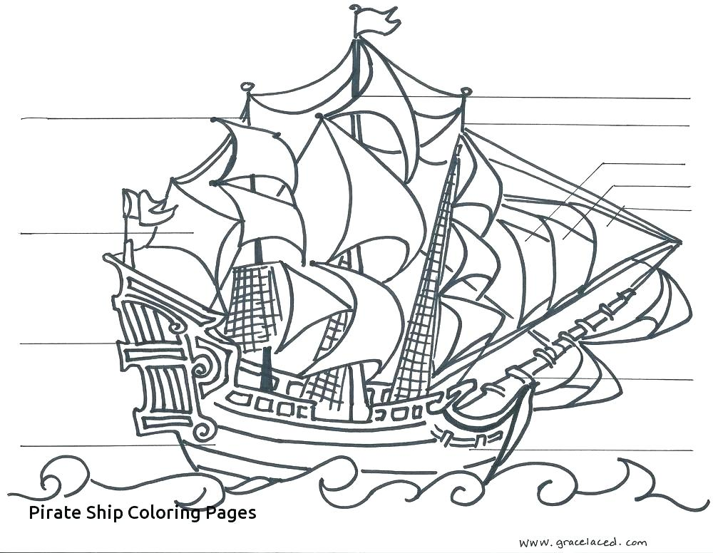 1000x776 Pirate Ship Coloring Pages Sunken Ship Drawing Related Keywords