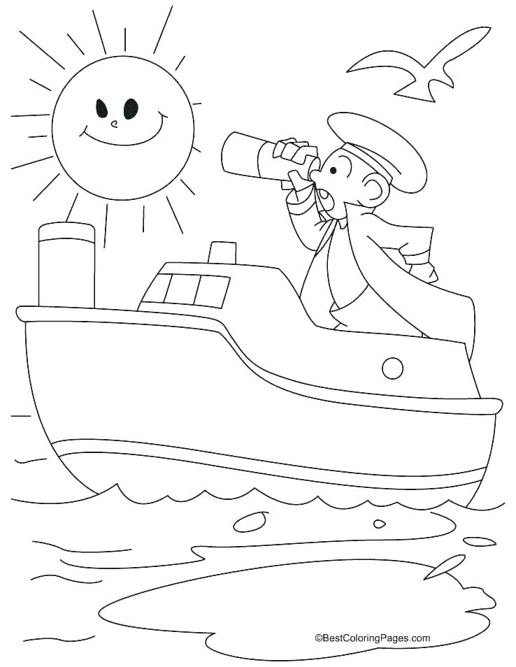 738x954 Pirate Ship Coloring Pages To Print Sunken Col