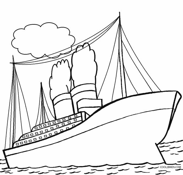 600x574 Printable Titanic Coloring Pages For Kids