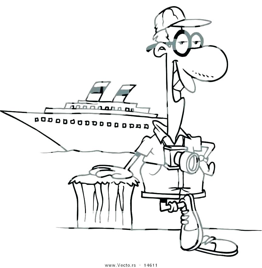 863x880 Ship Coloring Pages Private Cruise Ship Coloring Pages Mickey