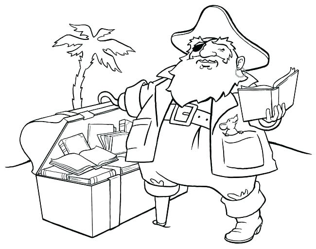 650x512 Sunken Pirate Ship Coloring Pages Printable Book Pirates Big