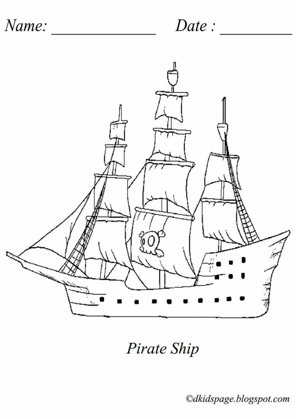 960x1358 Coloringages Simpleirate Shipagerintable Sunken Big Pirate Ship