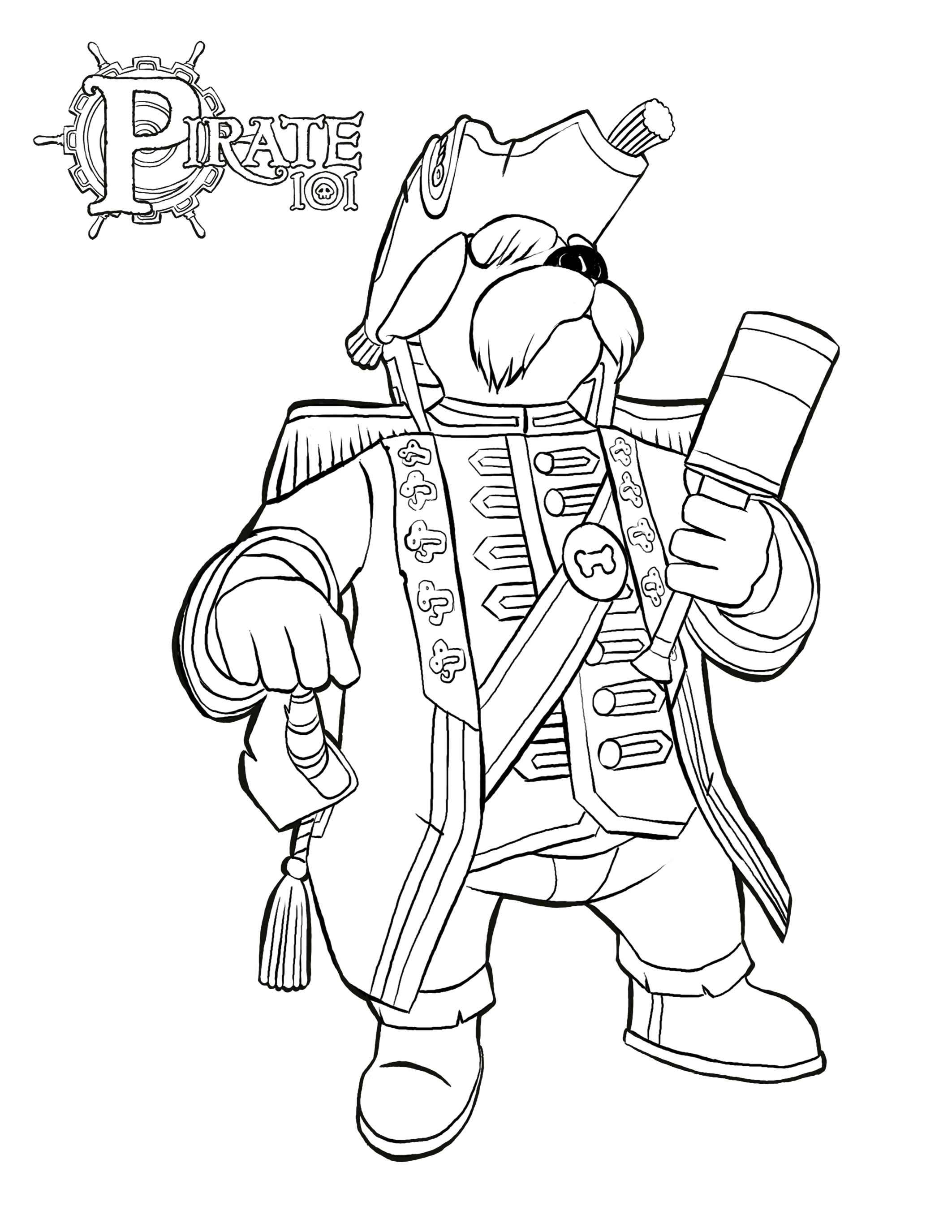 2125x2750 Pirate Coloring Pages Free Online Game