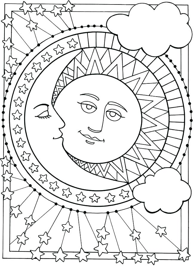 650x893 Moon Coloring Pages Coloring Pages Sun Sun And Moon Coloring Pages