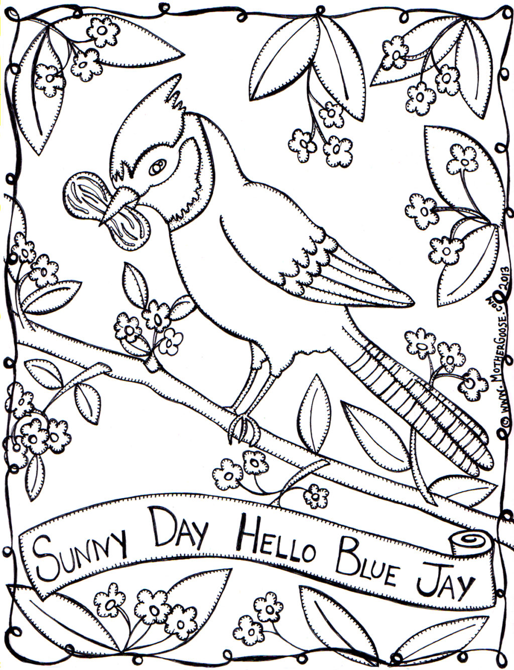 1024x1336 Mother Goose Sunny Day Coloring Pages Sunny Day Coloring Page