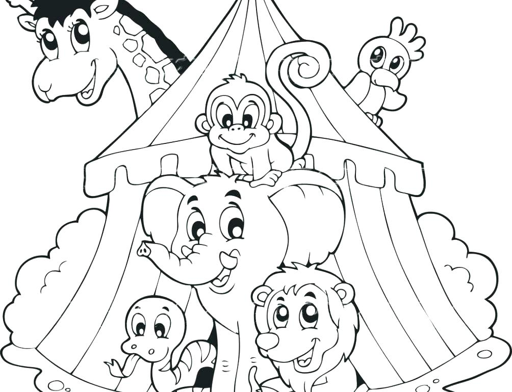 1004x768 Sunny Day Coloring Pages Circus Coloring Pages For Preschool Clown