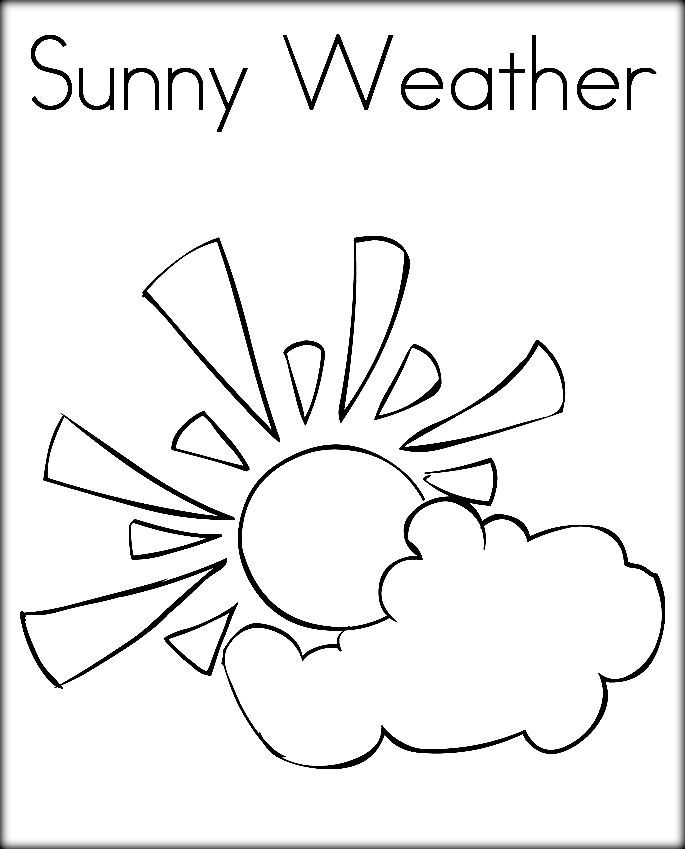 685x849 Sunny Weather Coloring Pages