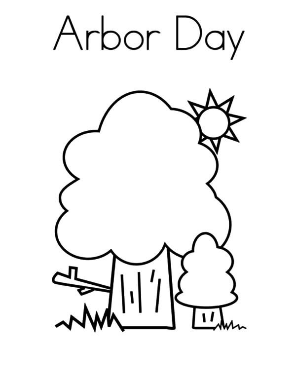 600x776 Trees On Sunny Day On Arbor Day Coloring Pages Best Place To Color