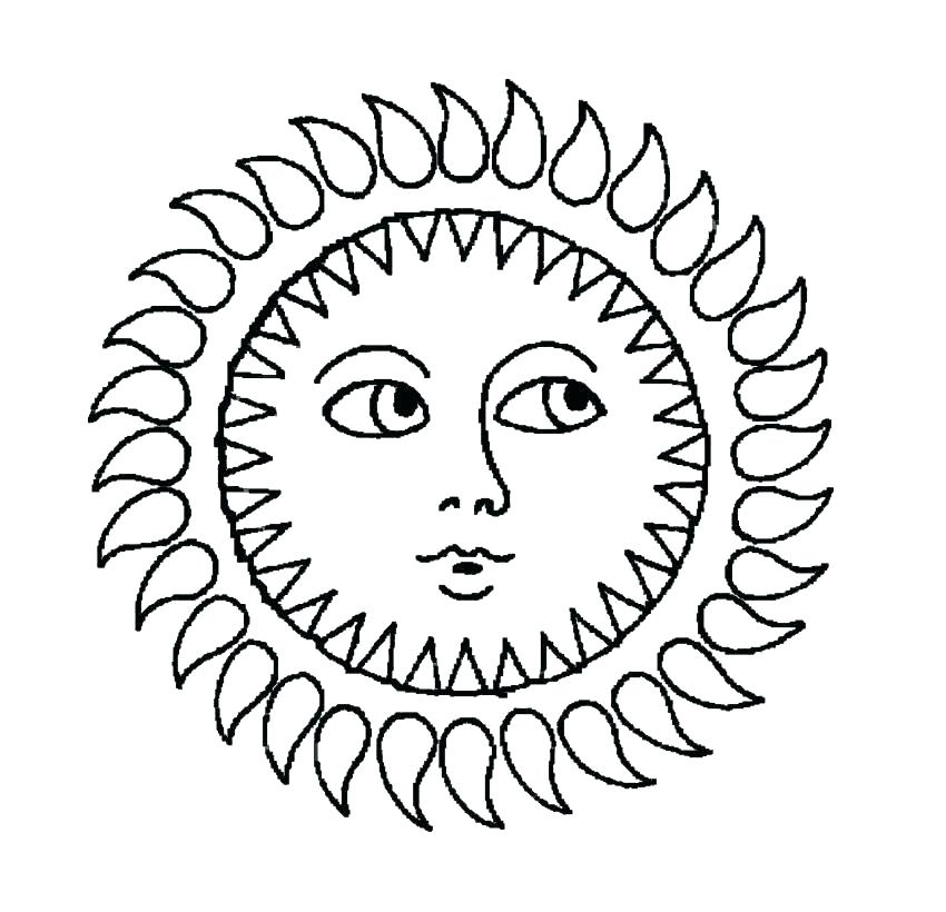 850x820 Coloring Page Sunny Day Sun And Moon Pages This Is Images Free