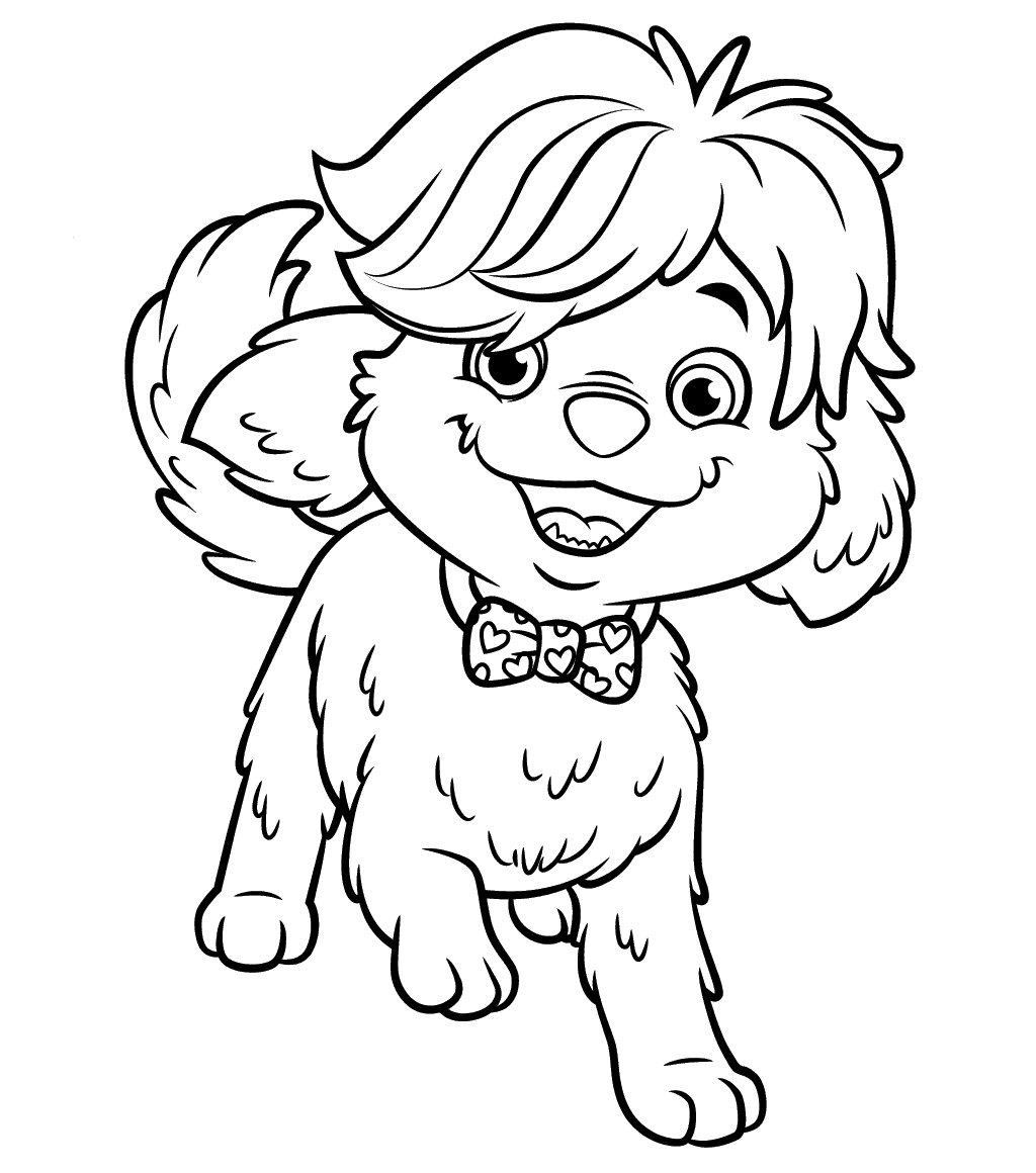 1024x1160 Cute Pup Doodle Coloring Pages From Sunny Day