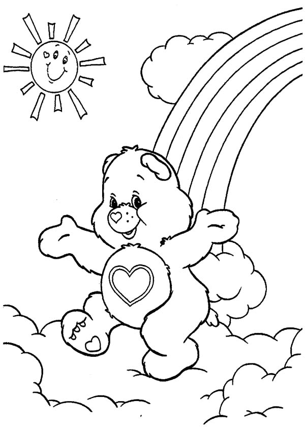 600x840 Care Bears Walking On Sunny Day Coloring Pages Best Place To Color