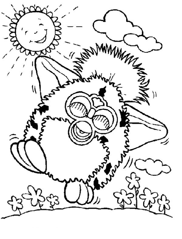 600x784 Furby Walking On Sunny Day Coloring Pages Batch Coloring