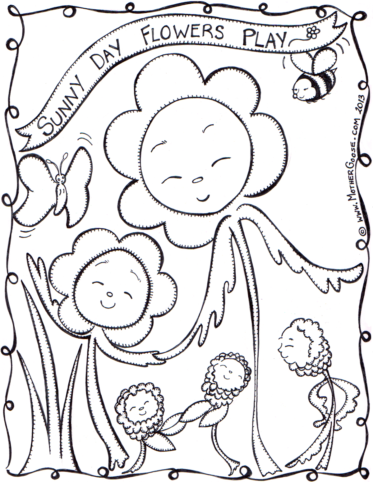 1200x1551 Mother Goose Sunny Day Coloring Pages