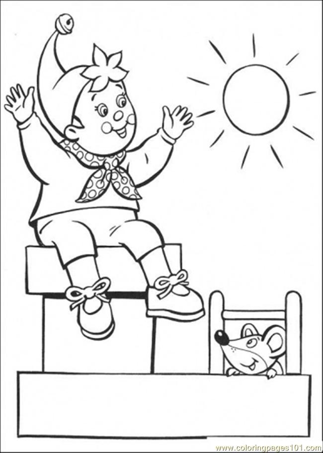 650x912 Noddy Enjoys The Sunny Day Coloring Page
