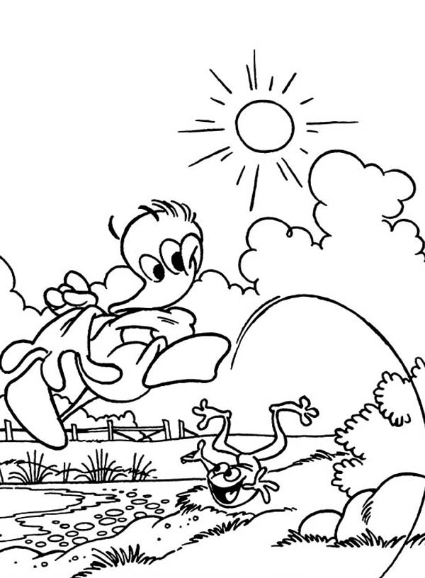 600x816 Alfred Jodocus Kwak Going To The Lake On Sunny Day Coloring Pages