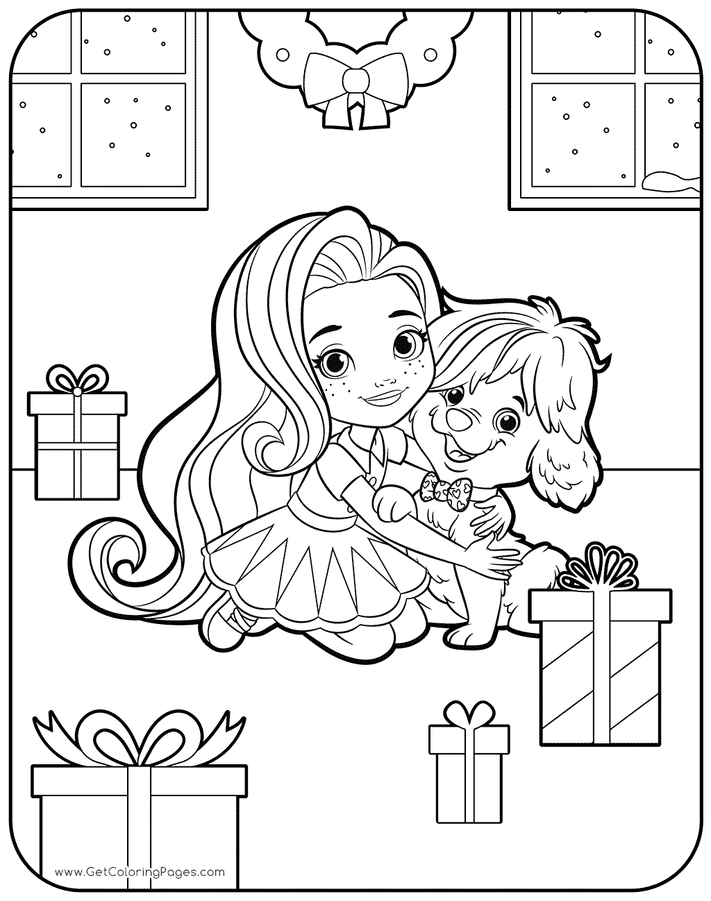 1024x1298 Sunny With Puppy Coloring Page