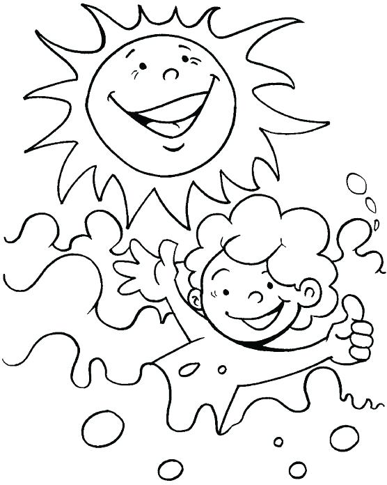 556x696 Water Day Coloring Pages A Bright Sunny Day Coloring Page Non