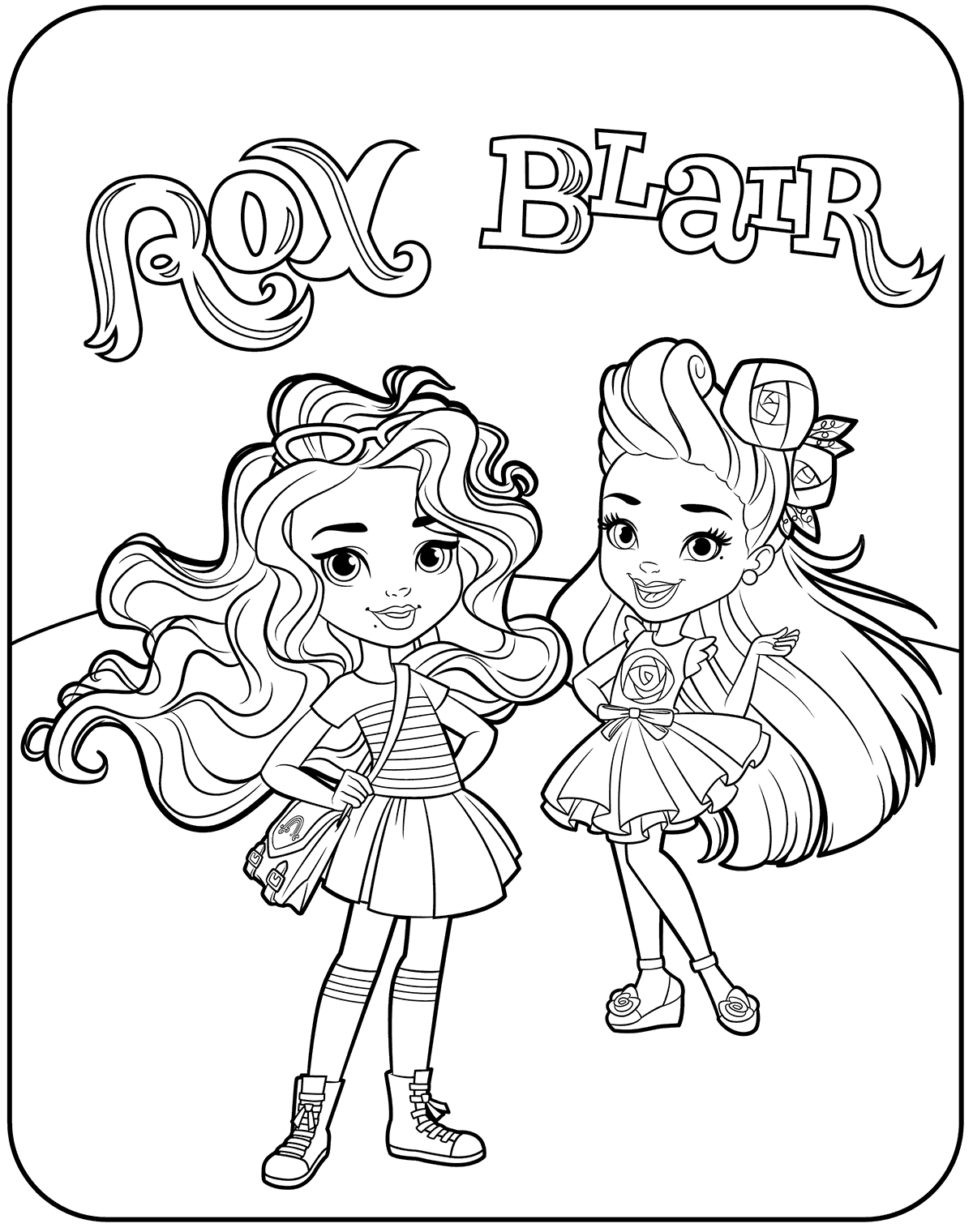 1200x1520 Blair And Rox From Sunny Day Coloring Pages